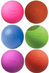 Colored lacrosse balls